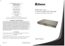 Buy Swann DVR4NETMANUAL Instructions by download #336419