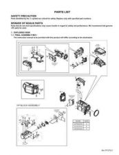 Buy JVC GZ-MG20US part Service Manual by download Mauritron #280962