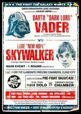 Buy Dark Vader Sky Walker star wars . unframed canvas