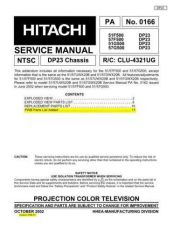 Buy Hitachi PA0166 Service Manual by download Mauritron #323266