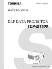 Buy Toshiba TDP-MT500 Service Manual by download Mauritron #333204