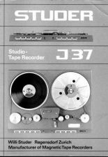 Buy STUDER J37 Operating Guide Service Manual by download Mauritron #314644
