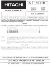Buy Hitachi 50VX500 60VX500 Service Manual by download Mauritron #288217