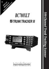Buy Uniden Trunk Tracker III BC-780XLT Scanner User Guide by download Mauritron #320392