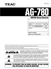 Buy Teac AG780EF Operating Guide by download Mauritron #318264