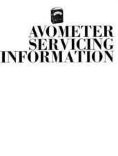 Buy AVO 8 ServiceManual by download Mauritron #327267