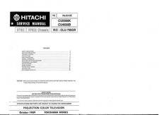 Buy Hitachi CLU-692GR-3 Service Manual by download Mauritron #288949
