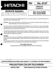 Buy Hitachi PA0127 Service Manual by download Mauritron #323236