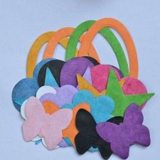 Buy 20 PIECES REVERSIBLE DIE CUTS MULBERRY PAPER BUTTERFLY STAR HEARTH CLOUD OVAL