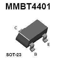 Buy SMT Transistor - MMBT4401 NPN (SOT-23) - 35 Pieces