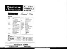 Buy Hitachi VT-F350A-F351A-2 Service Manual by download Mauritron #287171