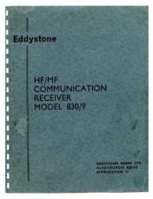 Buy Eddystone 830-9 Manual by download Mauritron #316539