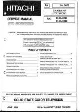 Buy Hitachi 27CX75B-C767 Service Manual by download Mauritron #284676