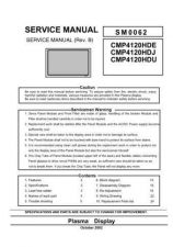 Buy Hitachi CMP4121HDE Service Manual by download Mauritron #289035