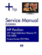 Buy HP PL5000N Television Service Manual by download Mauritron #322018