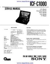 Buy Sony ICFC1000 Service by download Mauritron #321593
