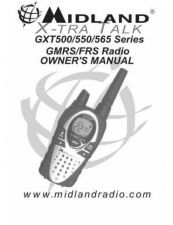Buy Midland GXT550VP4 2 Way Radio Operating Guide by download Mauritron #317548