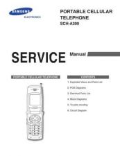 Buy Samsung SCH-A399 Mobile Phone Service Manual by download Mauritron #306263