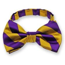 Buy Omega Psi Phi Striped Bow Tie