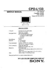 Buy Sony CPD-L133 TV Service Manual by download Mauritron #322836