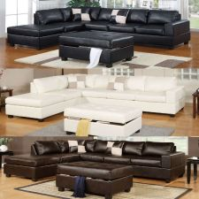 Buy Modern Living room Black Cream Sectional Couch 3 Pc Sectional Sofa 100% Bonded
