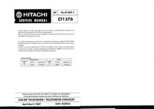 Buy Hitachi CT1384W Service Manual by download Mauritron #284969
