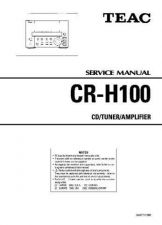 Buy Teac CR-H100 Service Manual by download Mauritron #319320