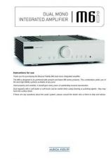Buy Musical Fidelity M6I Operating Guide by download Mauritron #326912