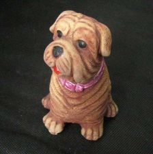 Buy COLLECTIBLE CHINESE SHAR-PEI DOG ANIMAL HAND PAINTING