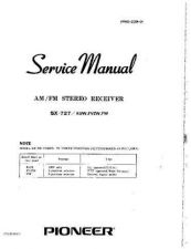 Buy Pioneer SX727KUW Stereo Receiver Service Manual by download Mauritron #316206