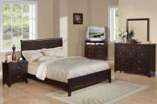 Buy QUEEN BEDROOM SET 5 PC CHOCOLATE MODERN BED COMPLETE BEDROOM FURNITURE #F9169