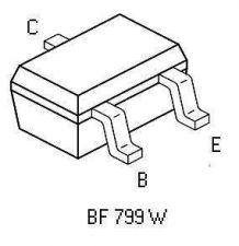 Buy SMT Transistor - BF799W NPN Linear Broadband Amplifier (SOT-323) - 18 Pieces