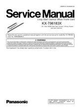Buy Panasonic T96183X_SUP3 Manual by download Mauritron #301807