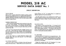 Buy Baird 218AC Service Manual by download Mauritron #327273