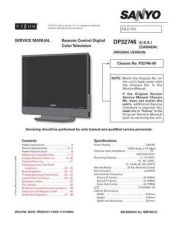 Buy Sanyo DP-32746-00 Television Service Manual by download Mauritron #322197