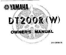 Buy Yamaha 2YY-28199-70 Motorcycle Manual by download #334019