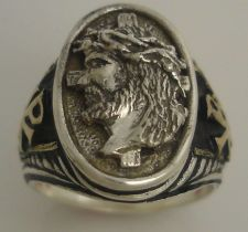 Buy Jesus Christ Prince of Peace Gents ring Sterling Silver.Lge