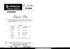 Buy Hitachi VT-3010A Service Manual by download Mauritron #287053