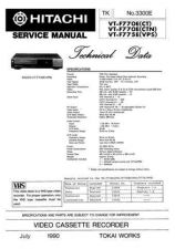 Buy Hitachi VT-8000A Service Manual by download Mauritron #287090