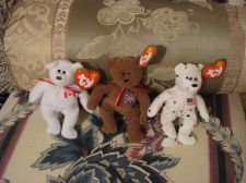 Buy TY Beanie Baby Lot of 3 Teenie Baby Babies Britannia Maple Canada &Glory 5.5""