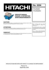 Buy Hitachi 0204 Service Manual by download Mauritron #331787