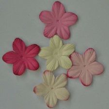 Buy 100 MIXED MULBERRY PAPER PETAL ARTIFICIAL FLOWERS PINK TONE COLOR 3.8 cm/1.5""