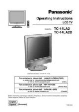 Buy Panasonic TC_14_17_20_LA1_ENG_SPA_543 Manual by download Mauritron #301820