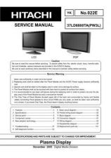 Buy Hitachi 55PD_37LD8800 Service Manual by download Mauritron #288345