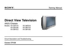 Buy Sony KV-28LS60 TV Service Manual by download Mauritron #322916