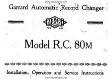 Buy GARRARD RC80M Service Sheets Set by download Mauritron #328382