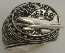Buy Luftwaffe ME262 First Operational WWII Jet Mens Sterling Silver Ring
