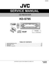 Buy JVC KD-S795 Service Manual Circuits Schematics by download Mauritron #275188