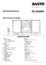 Buy Sanyo DCDA2000 Operating Guide by download Mauritron #327869