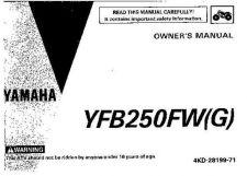 Buy Yamaha 4KD-28199-71 Quad ATV Bike Manual by download #334289
